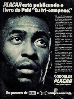 propaganda livro de Pelé Eu tri Campeão