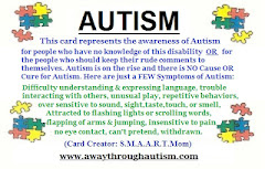 Angela's Autism Awareness Card