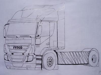 Desenhos Preto e Branco Caminhão tunado rabisco de caminhao tunado cavalinho Colorir