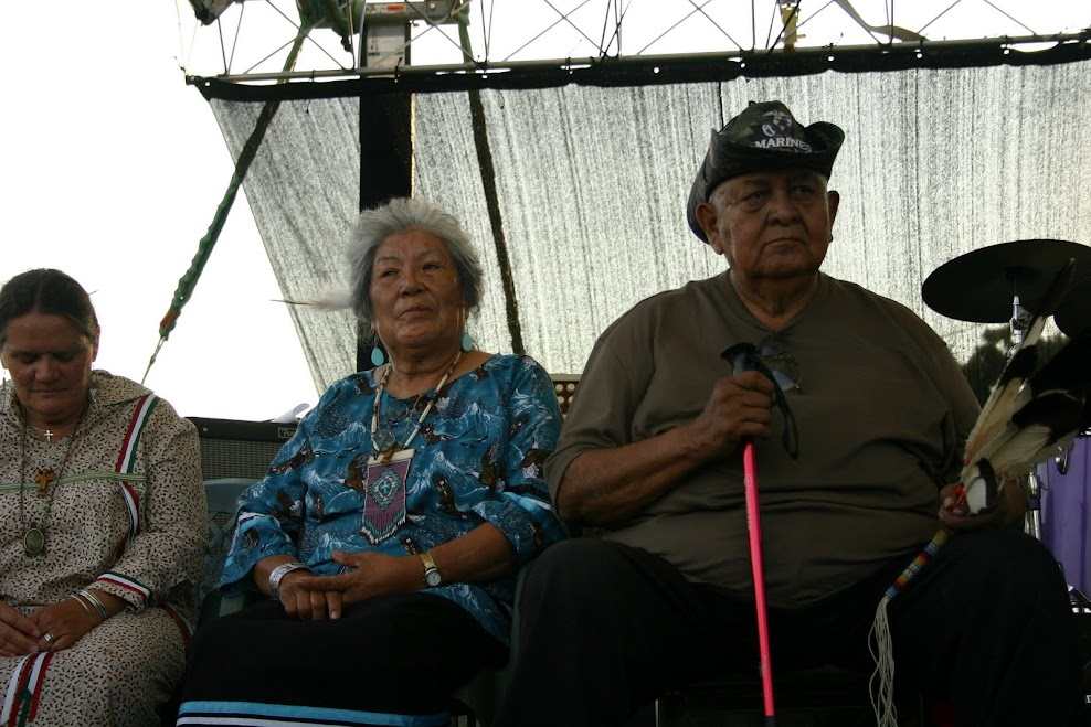 Festival Elders, Norma Blacksmith & Donald Hunting Horse