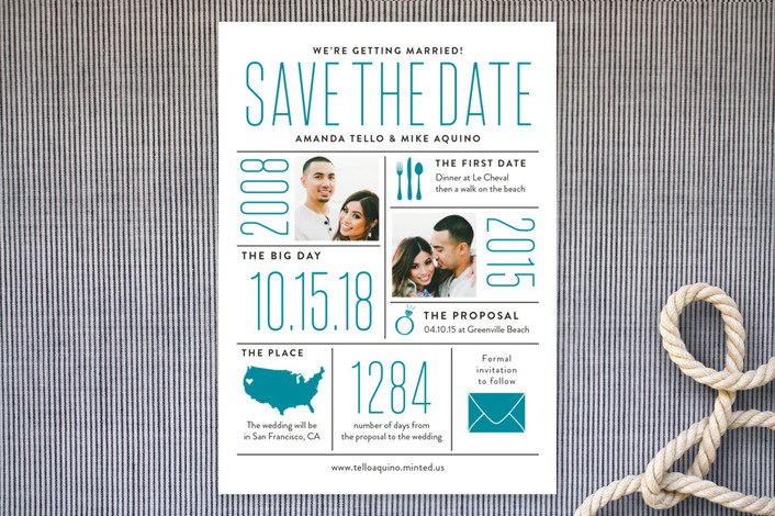infographic save the dates for Minted