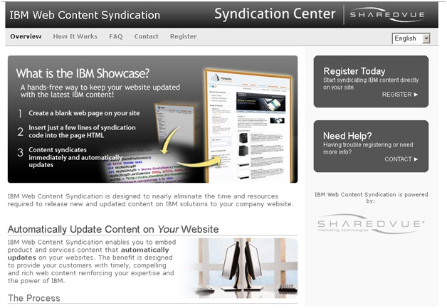 IBM Web Content Syndication Sharedvue