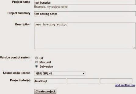 Cara Menyimpan Javascript di Google Code