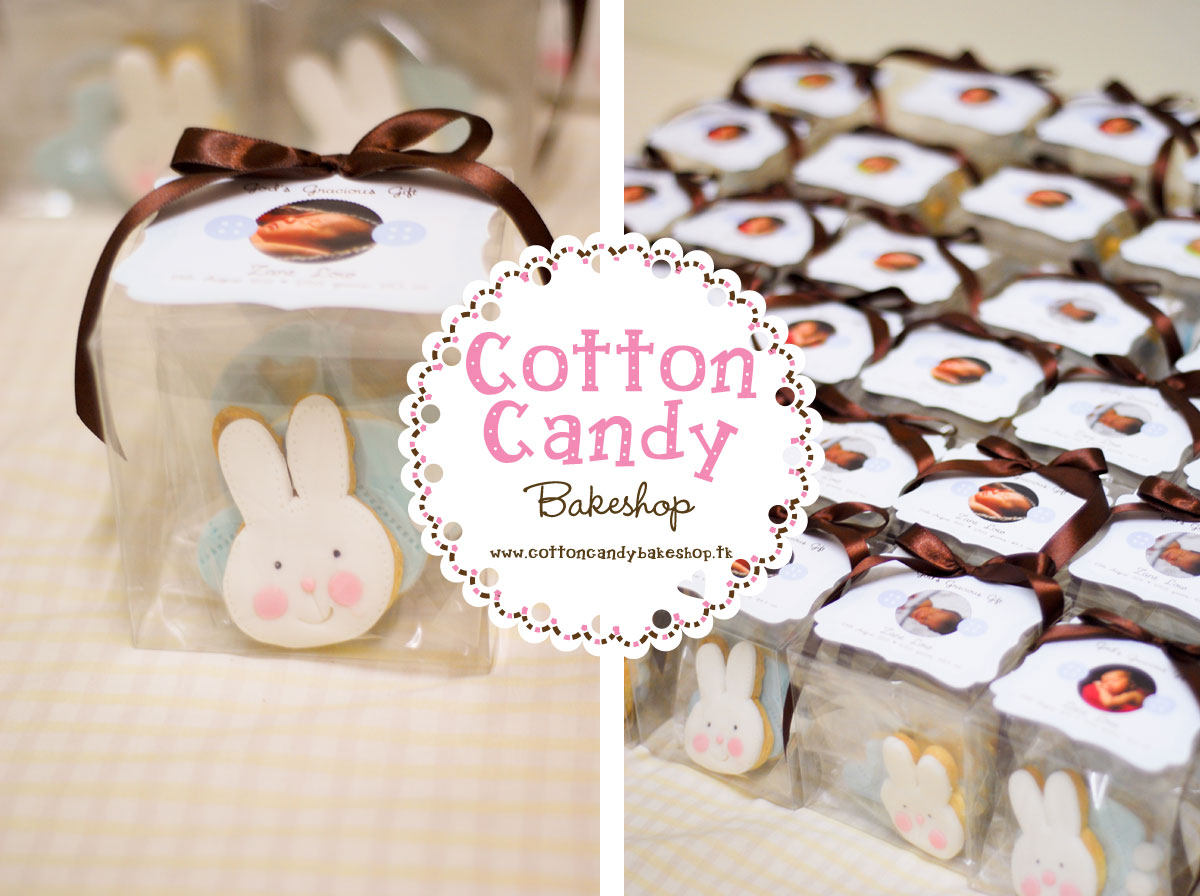 cotton candy bakeshop: Bunny Baby Boy Full Month Cookies & Cupcakes