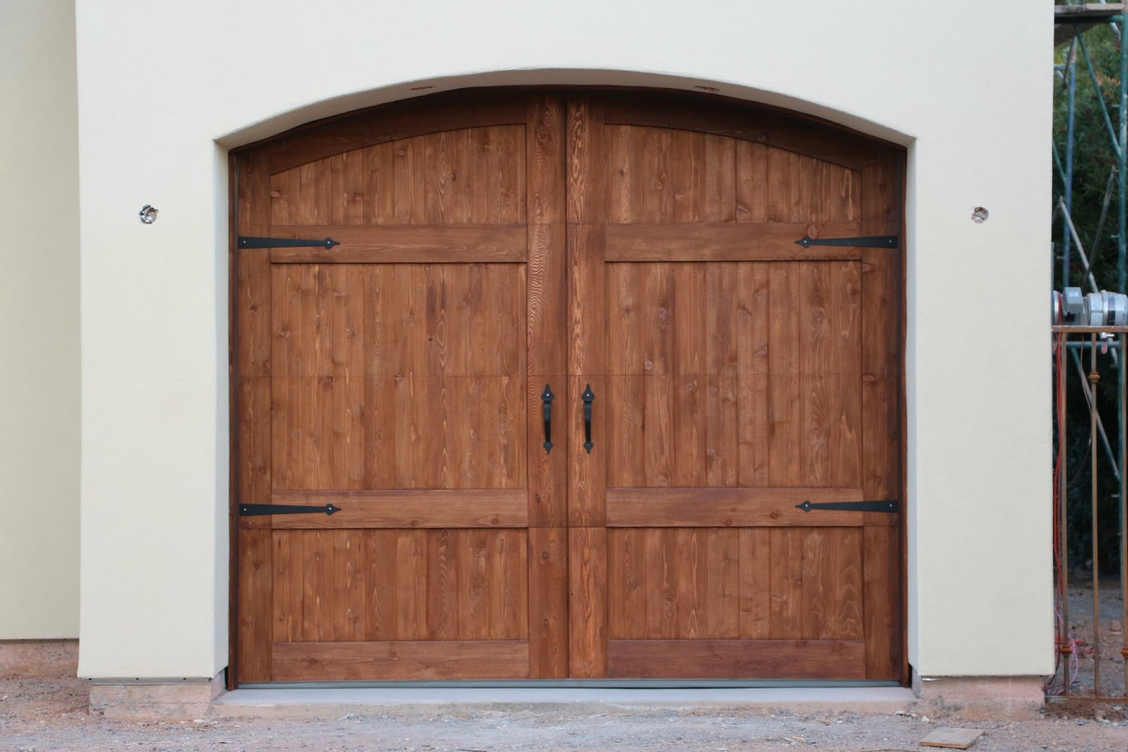 cedar garage doors, decorative hardware for garage doors, On Track garage doors