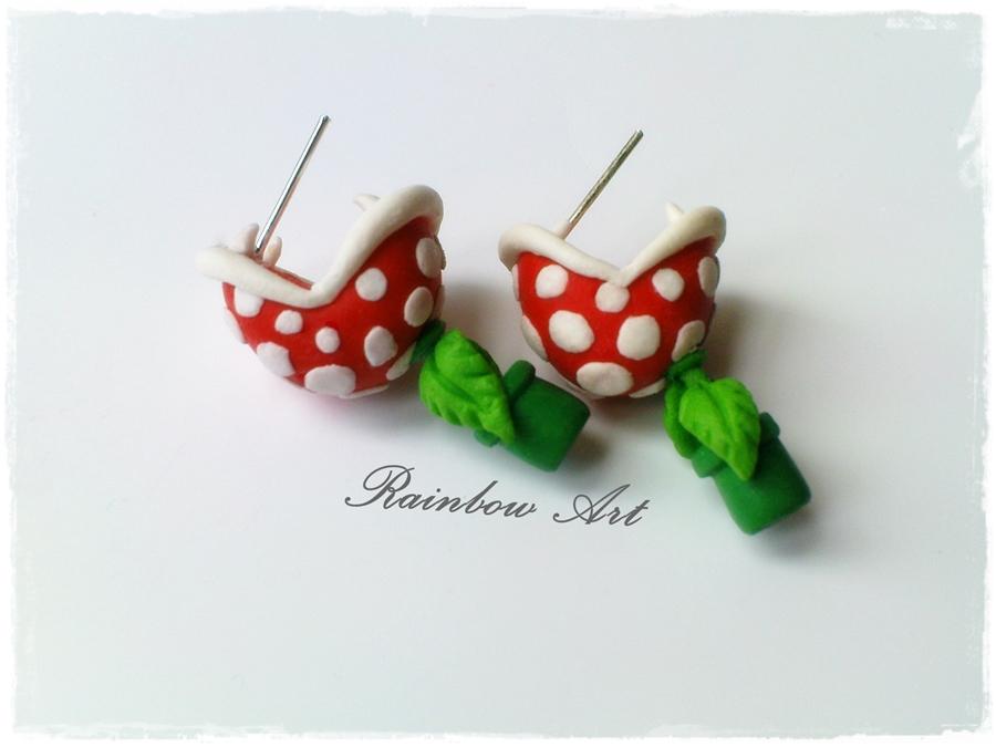 Kolczyki kwiaty z Mario
