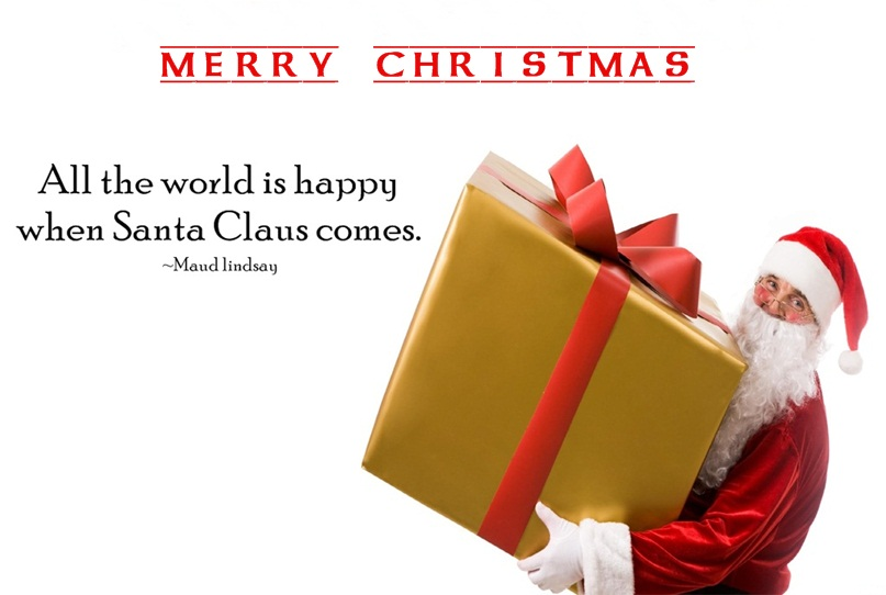 Exceptional Christmas Santa Quotes Image
