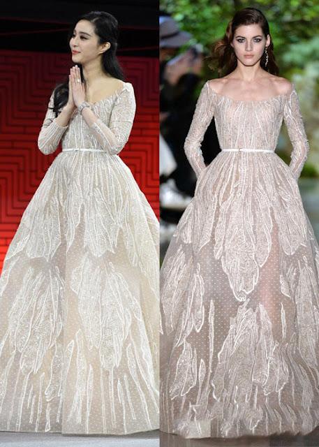 Băng Băng với thiết kế của Elie Saab. Sự ổn định về phong độ giúp cô được đánh giá là một trong 10 ngôi sao mặc đẹp nhất thế giới năm 2015.