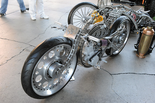 RK Concepts Custom Motorcycles: SEMA 2012 Photos There are five concepts above: The RK S, RK Spring Frame, RK Chain, RK Thing and one more that doesn't seem to have a name but features a frame that's almost completely round.