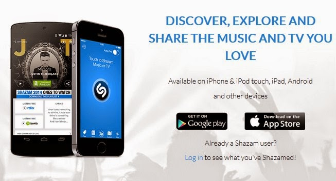 Get full Details of Unknown songs with Shazam Mobile Application