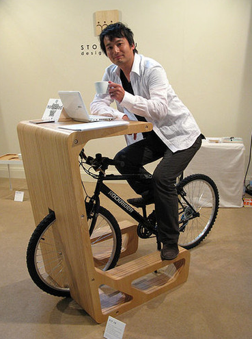 Small Space Bike Storage Desk