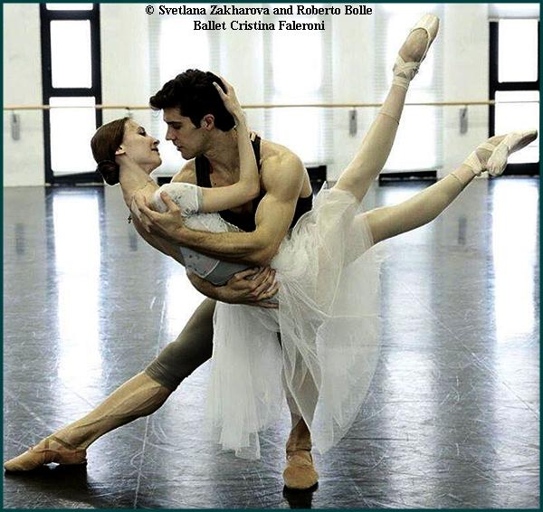 Svetlana Zakharova and Roberto Bolle.