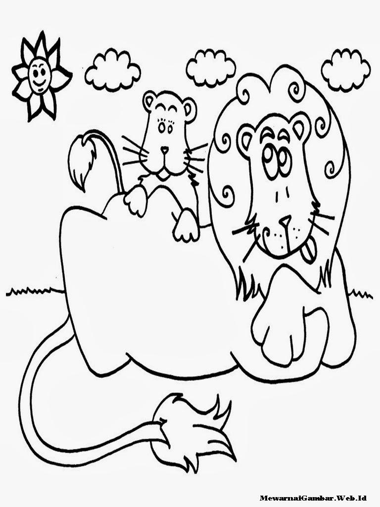 gambar kartun sing untuk diwarnai-anak  tk