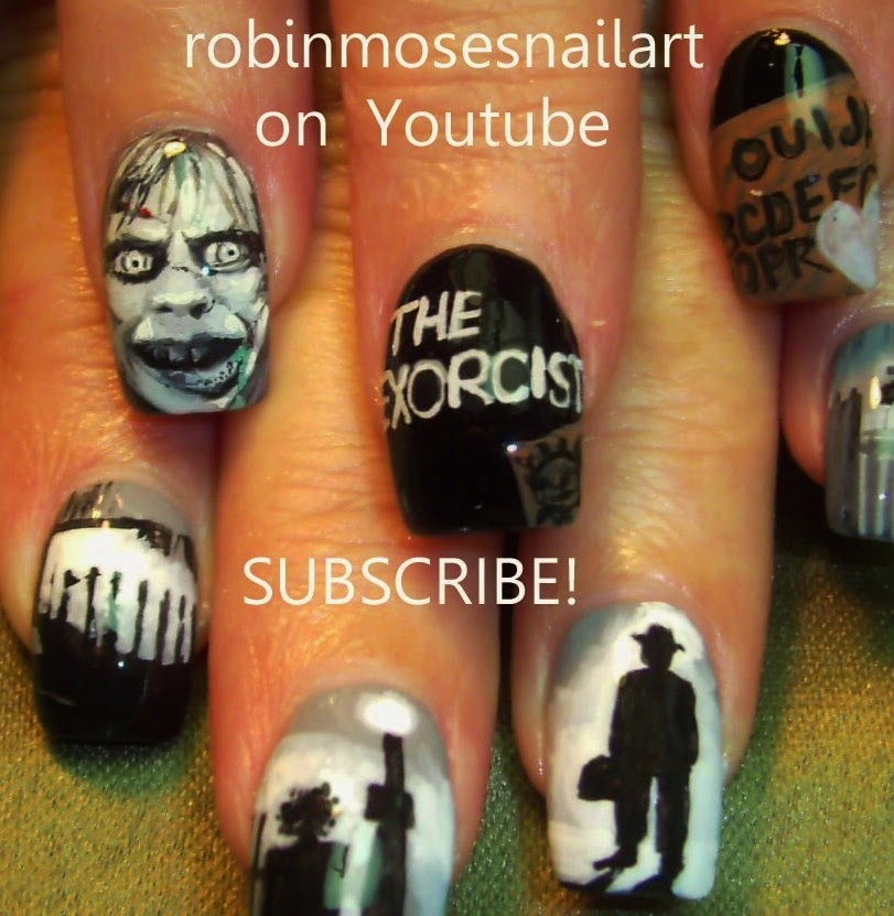 Nail Art By Robin Moses Scary Movie Nails Horror Film Nails