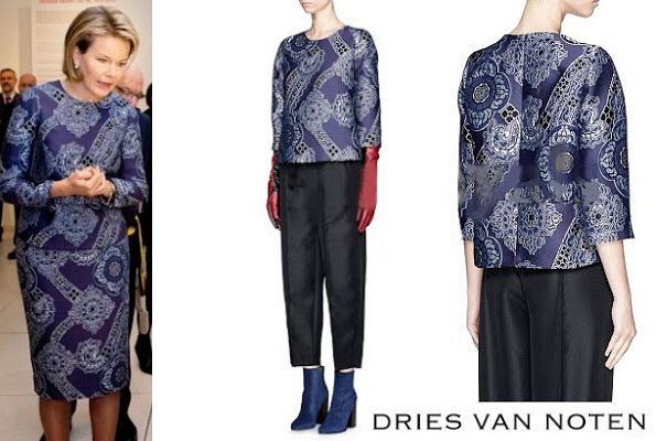 Queen Mathilde's DRIES VAN NOTEN Dress, AW15