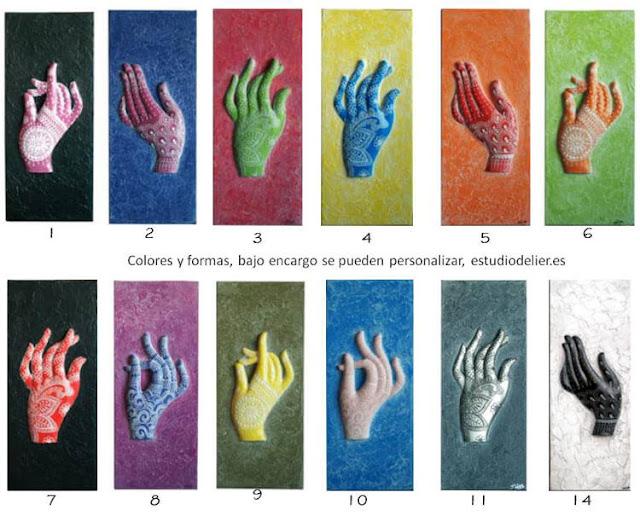 cuadros de manos mudras