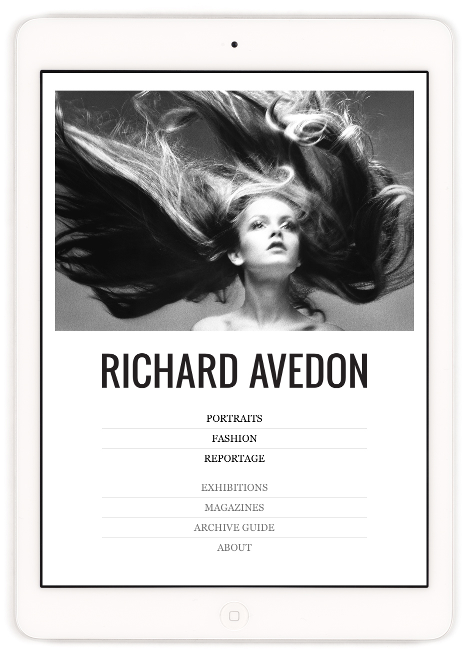 Richard Avedon foundation iPad app