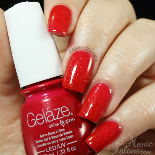 Gelaze Gel Polish Strawberry Fields Swatch