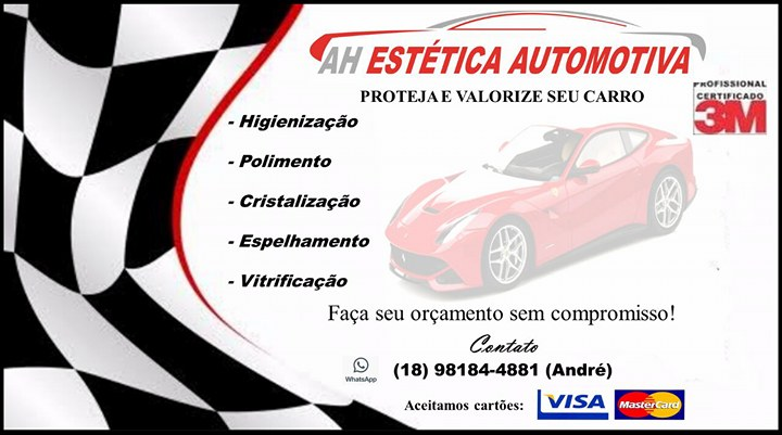 DÊ UMA CARA NOVA E UM CUIDADO ESPECIAL PARA SUA MÁQUINA AUTOMOTIVA!!