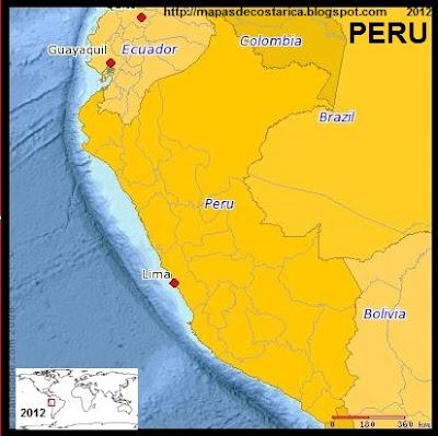 Mapa de PERU, (PLANIGLOBE)
