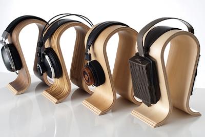 headphone stands shaped like the curve of a head