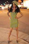 YELLOW STRIPES DRESS