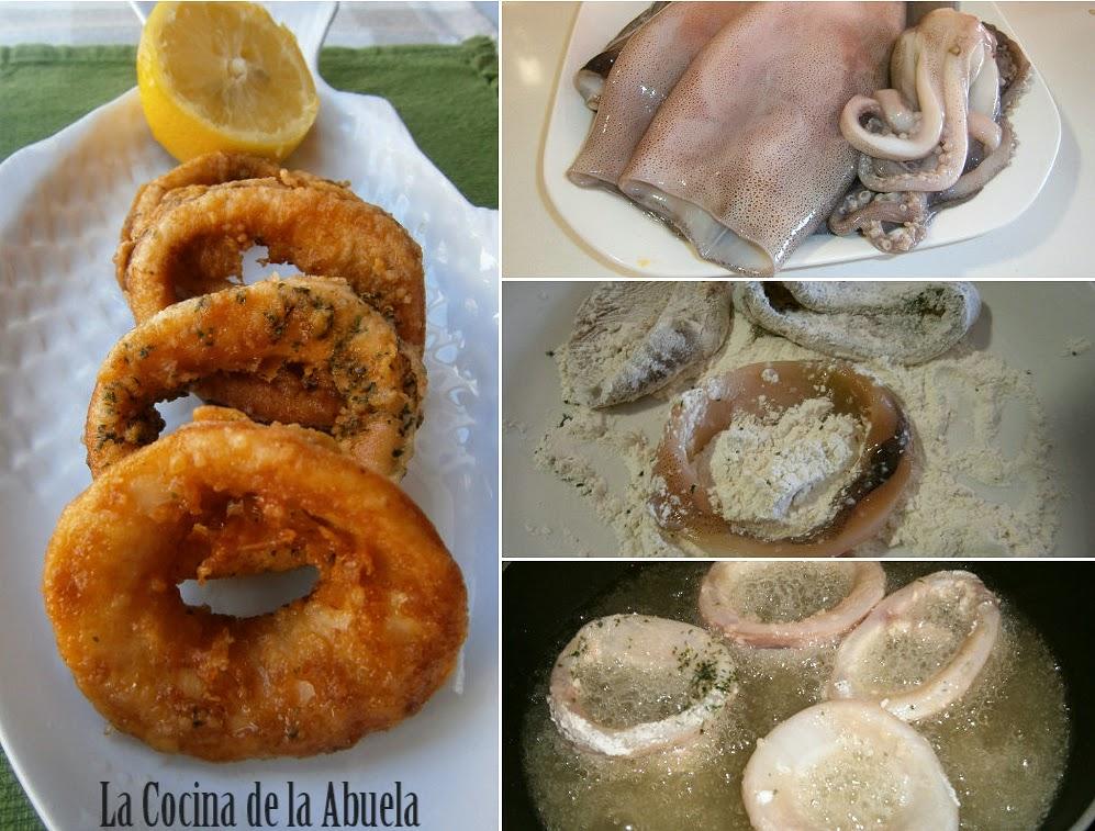 Calamares rebozados, a la Romana.