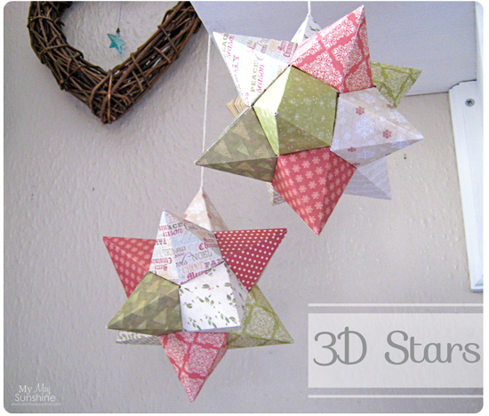 3D Origami Stars My May Sunshine