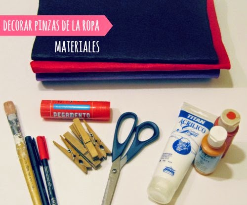 Materiales para hacer adornos de navidad con pinzas de la ropa
