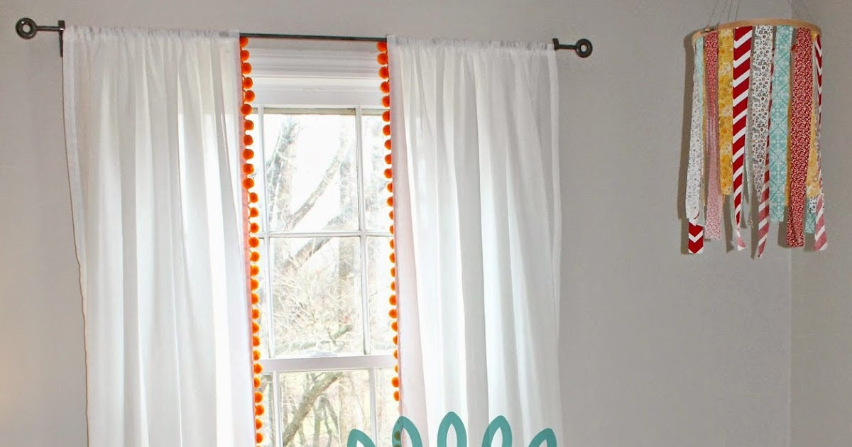 The Little Farm Diary On Adding Pom Poms To Curtains