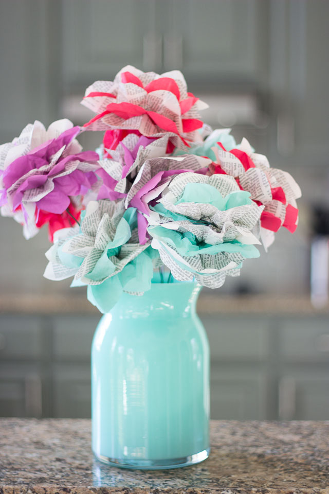 Encyclopedia paper flowers