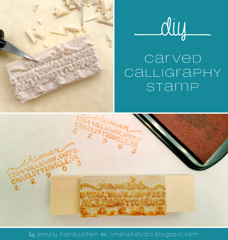 Simply Handwritten Diy Carved Calligraphy Stamp