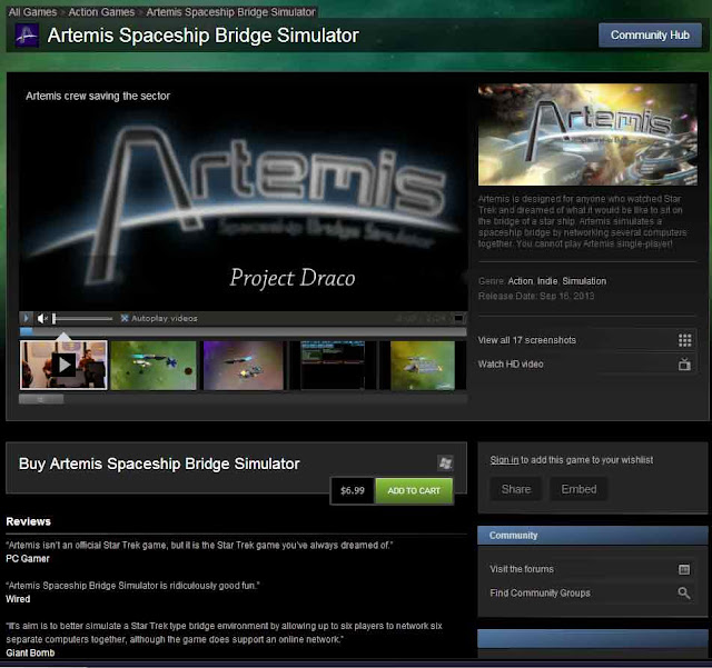 Artemis on Steam