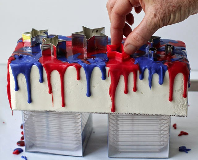 Red, White and Blue Tie-Dye Cake recipe