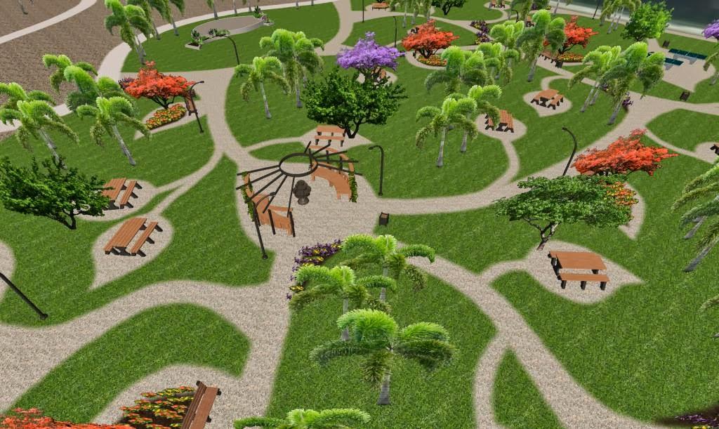 Parque ecol gico re creativo areas verdes hotel for Plantas ornamentales para parques