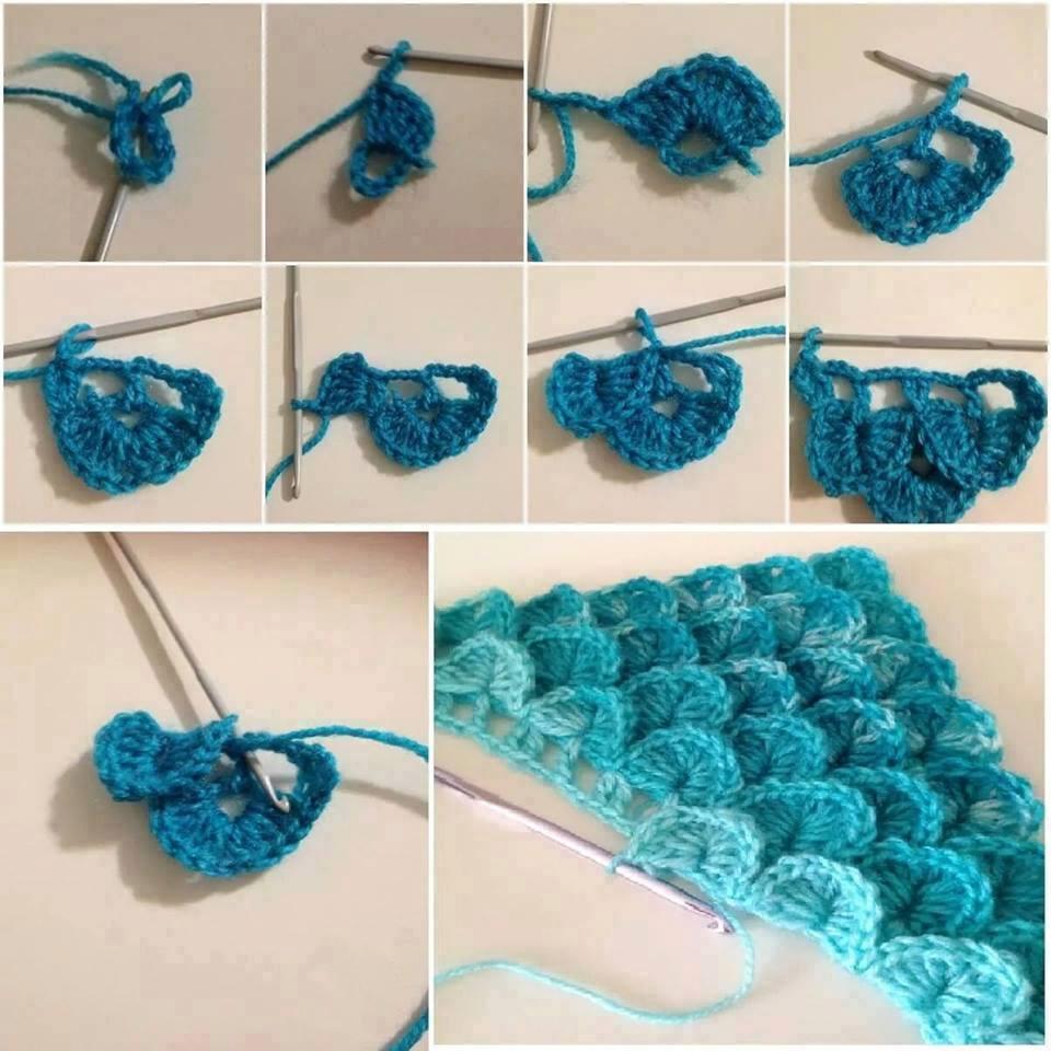 Punto cocodrilo paso a paso todo crochet - Manualidades a crochet paso a paso ...