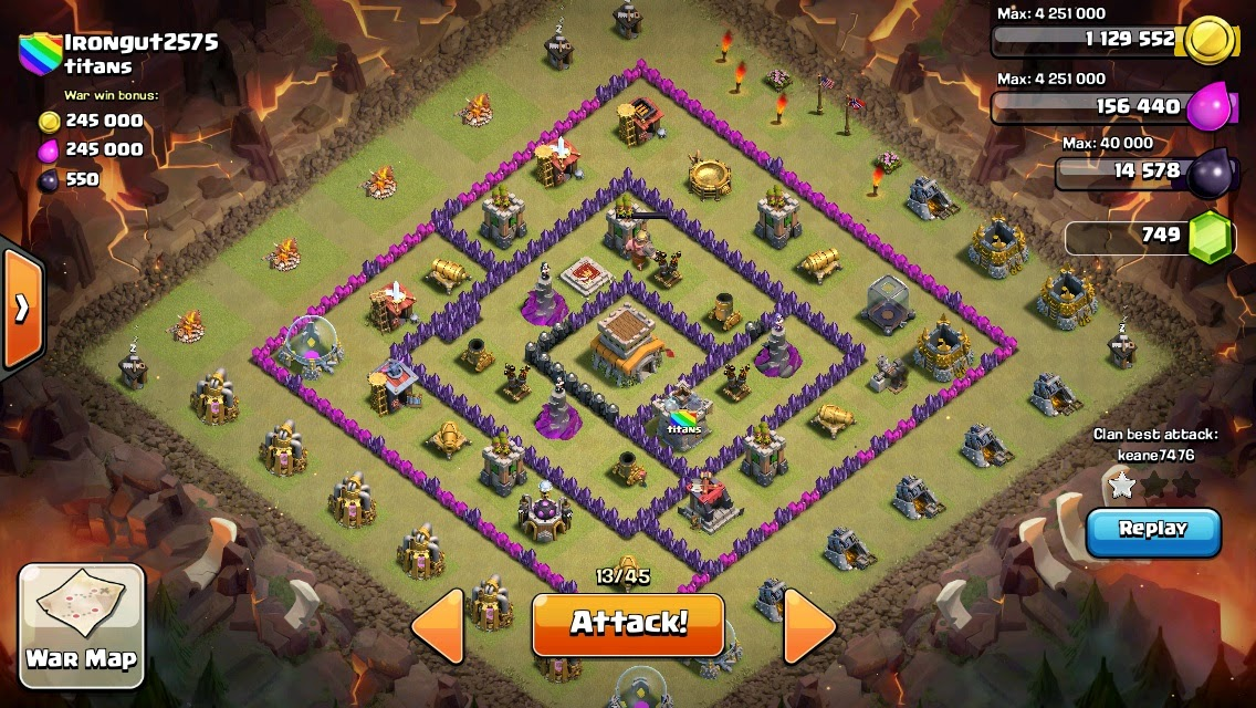 CLASH OF CLANS BASE STRATEGY: War Base Town Hall 8