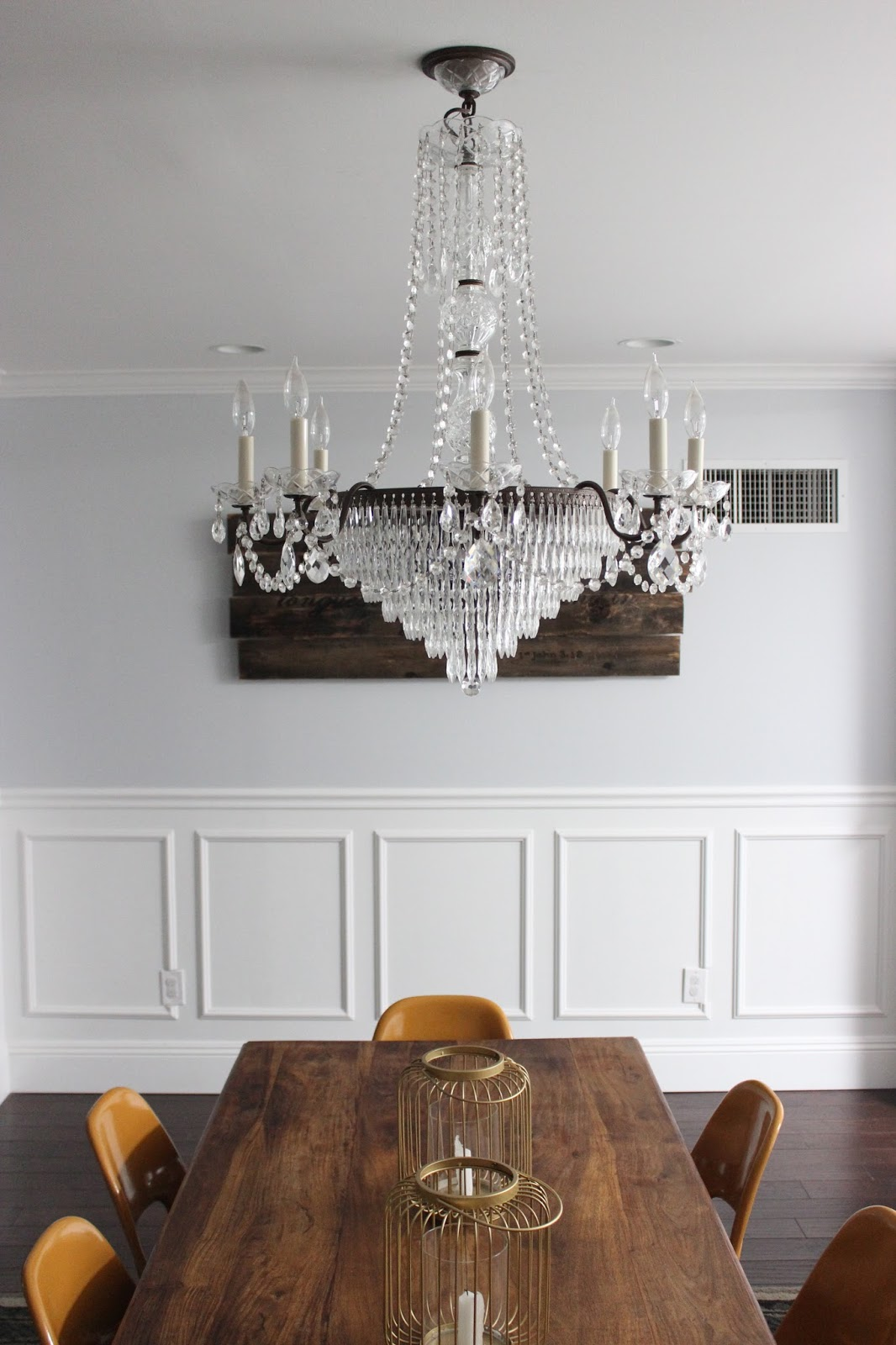 Our schonbek chandelier dream book design once we got it home we installed it right away we couldnt wait to see it in action even though we already tested that it was working at the guys house aloadofball Images