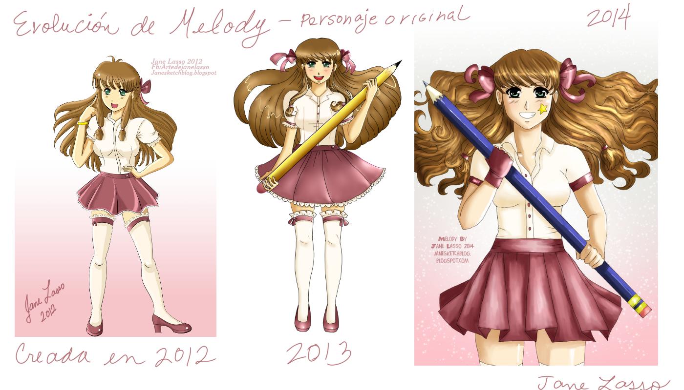 Evolución del dibujo de Melody