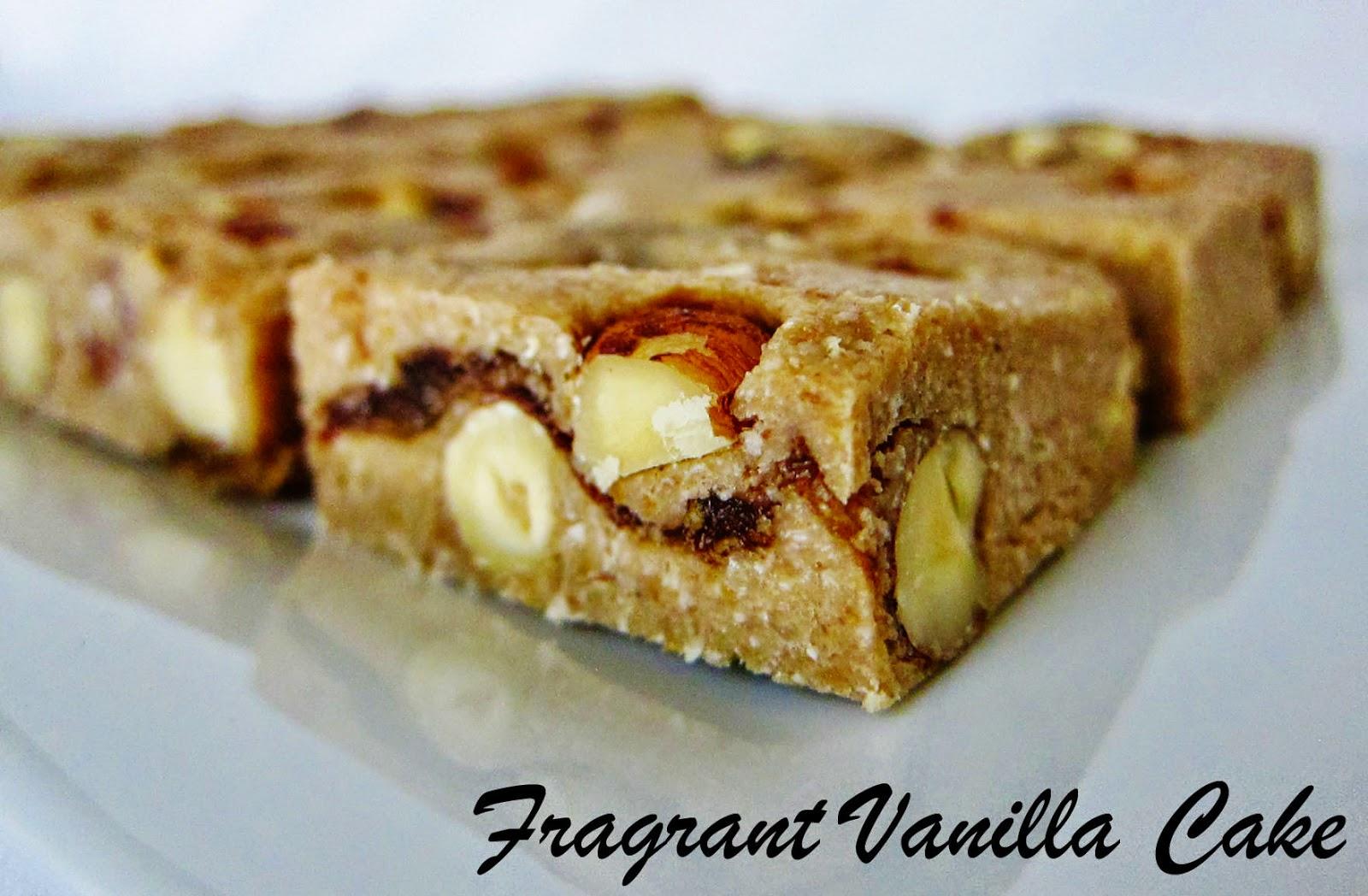Fragrant Vanilla Cake: Raw Butterscotch Hazelnut Blondies