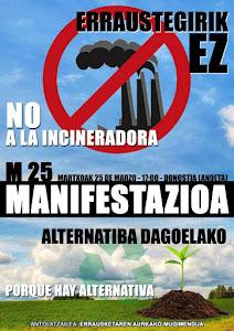 """25 de Marzo: """"No a la incineradora. Porque hay alternativas"""""""