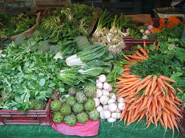 carottes, navets, artichauts, légumes
