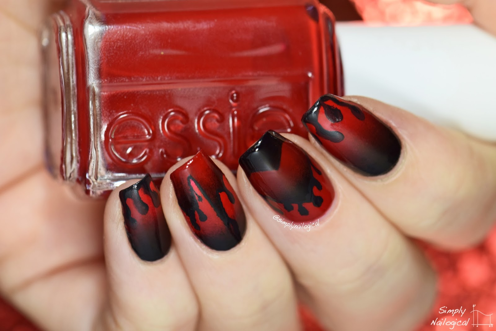 Simply Nailogical: It\'s a dark Valentine\'s Day... but a happy scaled ...