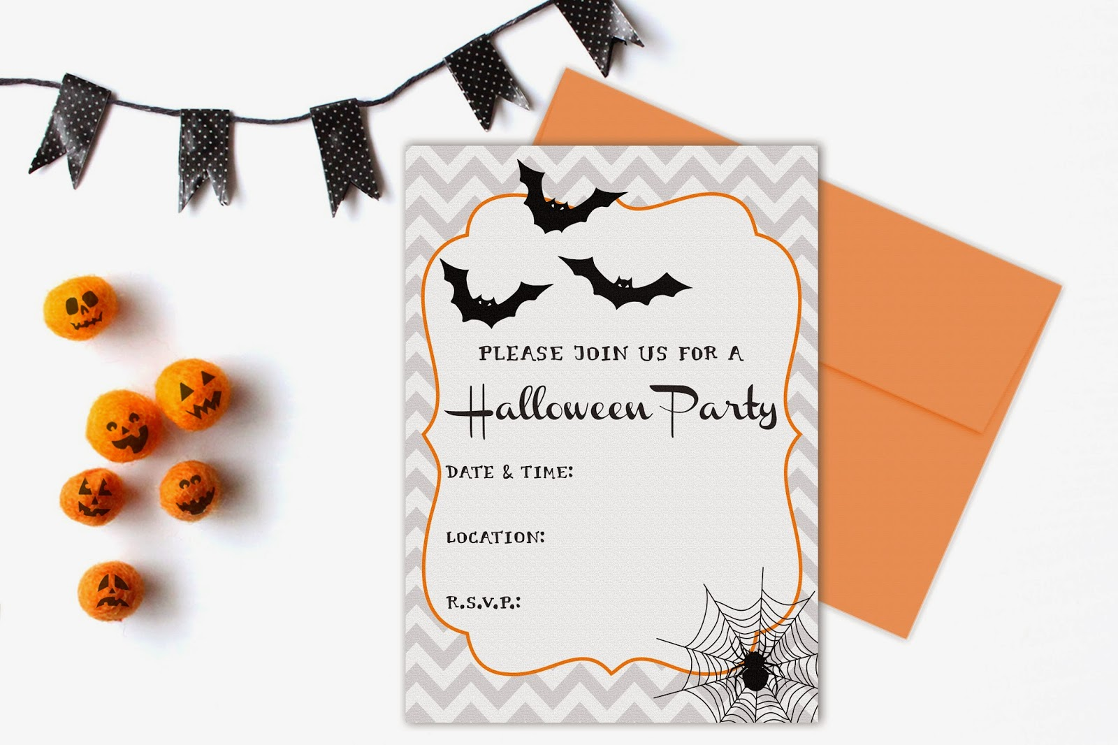 DIY Halloween Party Invitations by Designed By M.E. Stationery