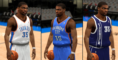 NBA 2K13 Oklahoma City Thunder Jersey Pack