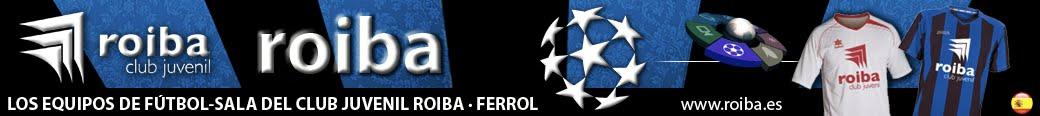 Los equipos de Fútbol Sala del club Roiba