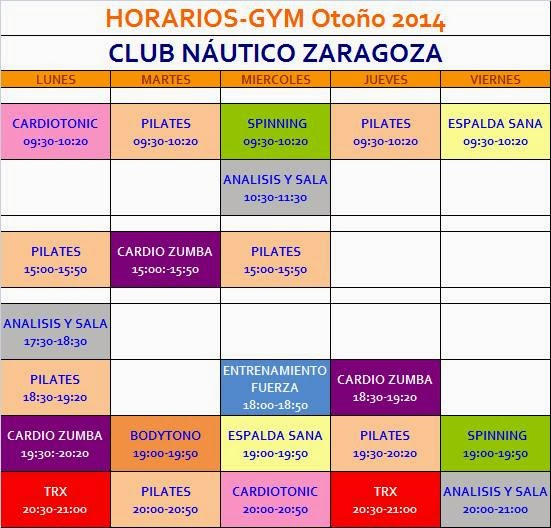 Club n utico zaragoza octubre 2014 - Club nautico zaragoza ...