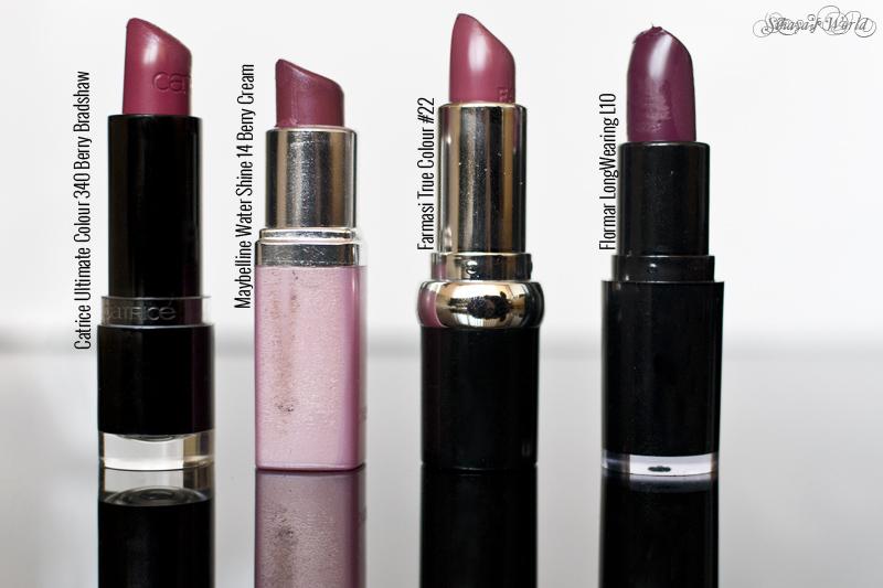 colectie rujuri burgundy Catrice Maybelline Farmasi Flormar