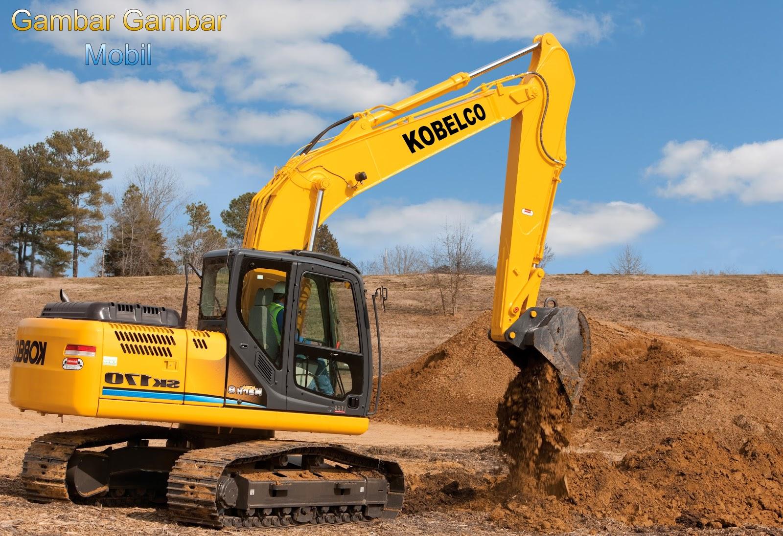 gambar excavator kobelco