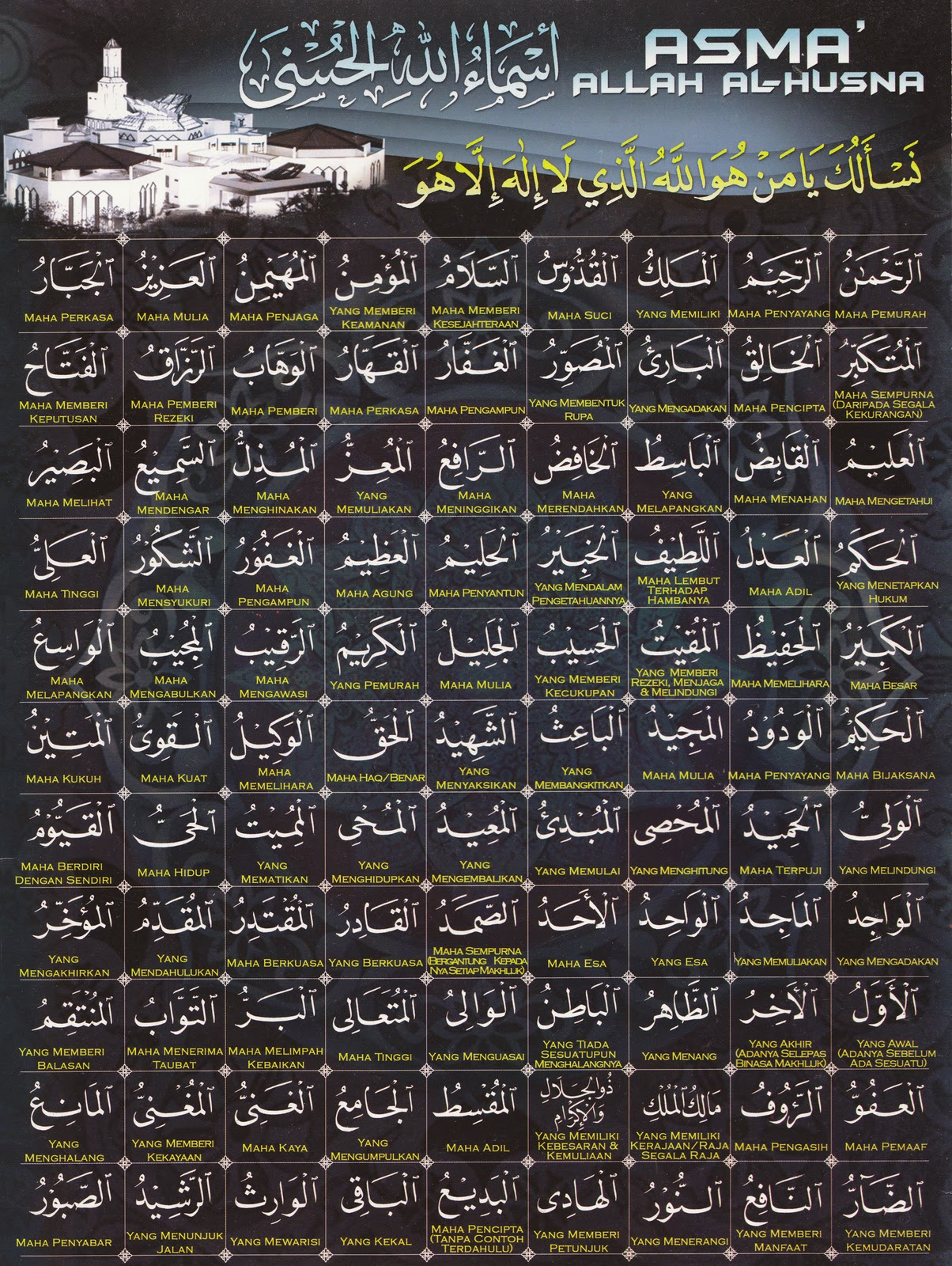 ASMAUL HUSNA (99 NAMA ALLAH)